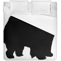 Chow Chow Silo Black Duvet Cover (King Size)