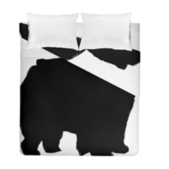 Chow Chow Silo Black Duvet Cover Double Side (Full/ Double Size)