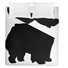Chow Chow Silo Black Duvet Cover Double Side (Queen Size)