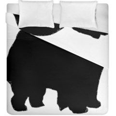 Chow Chow Silo Black Duvet Cover Double Side (King Size)