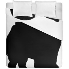 Chow Chow Silo Black Duvet Cover Double Side (California King Size)