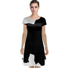 Chow Chow Silo Black Cap Sleeve Nightdress