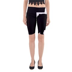 Chow Chow Silo Black Yoga Cropped Leggings
