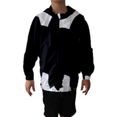 Chow Chow Silo Black Hooded Wind Breaker (Kids)