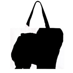 Chow Chow Silo Black Large Tote Bag