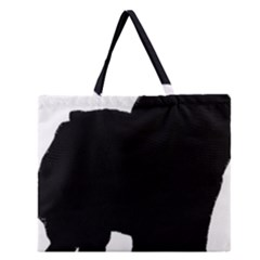 Chow Chow Silo Black Zipper Large Tote Bag