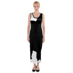 Chow Chow Silo Black Fitted Maxi Dress