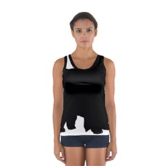 Chow Chow Silo Black Women s Sport Tank Top