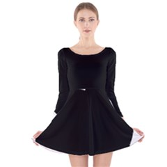 Chow Chow Silo Black Long Sleeve Velvet Skater Dress