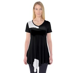 Chow Chow Silo Black Short Sleeve Tunic