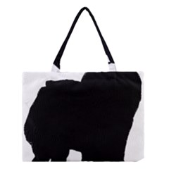 Chow Chow Silo Black Medium Tote Bag
