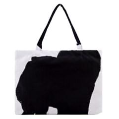 Chow Chow Silo Black Medium Zipper Tote Bag