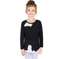 Chow Chow Silo Black Kids  Long Sleeve Tee