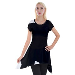 Chow Chow Silo Black Short Sleeve Side Drop Tunic