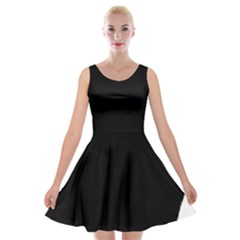 Chow Chow Silo Black Velvet Skater Dress