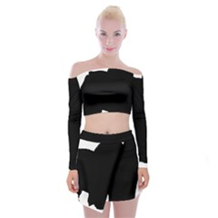 Chow Chow Silo Black Off Shoulder Top with Skirt Set