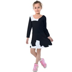 Chow Chow Silo Black Kids  Long Sleeve Velvet Dress