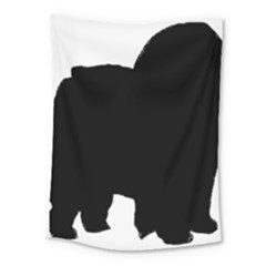 Chow Chow Silo Black Medium Tapestry