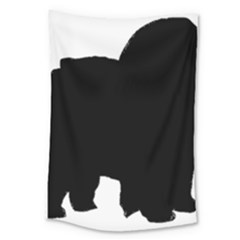 Chow Chow Silo Black Large Tapestry