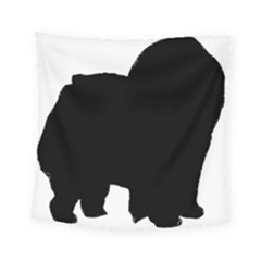 Chow Chow Silo Black Square Tapestry (Small)