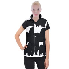 Chow Chow Silo Black Women s Button Up Puffer Vest