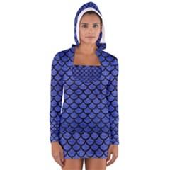 SCA1 BK-MRBL BL-BRSH (R) Women s Long Sleeve Hooded T-shirt