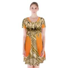 Img 20170328 150724 Short Sleeve V-neck Flare Dress