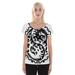 Ying Yang Tattoo Women s Cap Sleeve Top