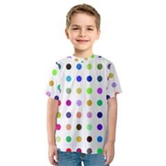Circle Pattern  Kids  Sport Mesh Tee