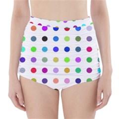 Circle Pattern  High-Waisted Bikini Bottoms