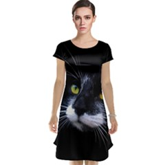 Face Black Cat Cap Sleeve Nightdress