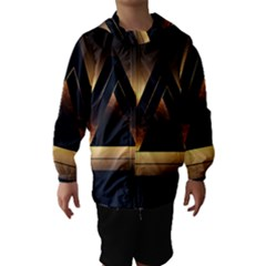 Triangle Penrose Clouds Sunset Hooded Wind Breaker (Kids)