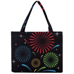 Fireworks With Star Vector Mini Tote Bag