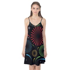 Fireworks With Star Vector Camis Nightgown