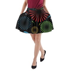 Fireworks With Star Vector A-Line Pocket Skirt