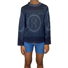 Minimalistic Knowledge Mathematics Trigonometry Kids  Long Sleeve Swimwear