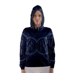 Minimalistic Knowledge Mathematics Trigonometry Hooded Wind Breaker (Women)