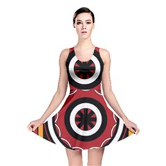 Toraja Pattern Pa barre Allo Reversible Skater Dress