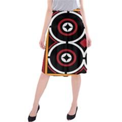 Toraja Pattern Ne limbongan Midi Beach Skirt