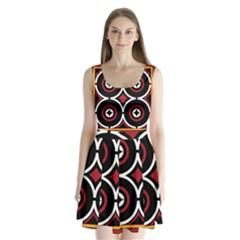 Toraja Pattern Ne limbongan Split Back Mini Dress