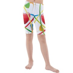 Love Kids  Mid Length Swim Shorts
