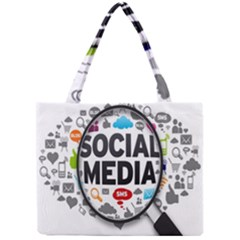 Social Media Computer Internet Typography Text Poster Mini Tote Bag