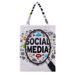 Social Media Computer Internet Typography Text Poster Classic Tote Bag