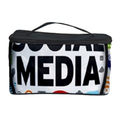 Social Media Computer Internet Typography Text Poster Cosmetic Storage Case