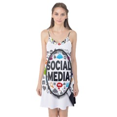 Social Media Computer Internet Typography Text Poster Camis Nightgown