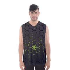 Green Android Honeycomb  Men s Basketball Tank Top