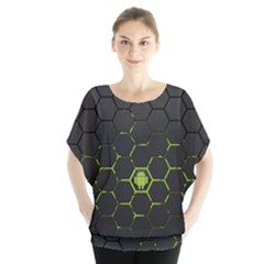 Green Android Honeycomb  Blouse