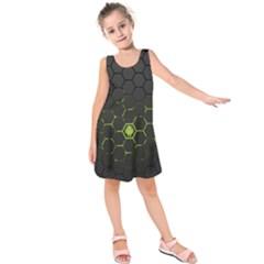 Green Android Honeycomb  Kids  Sleeveless Dress