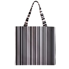 Barcode Pattern Zipper Grocery Tote Bag