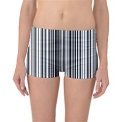 Barcode Pattern Boyleg Bikini Bottoms